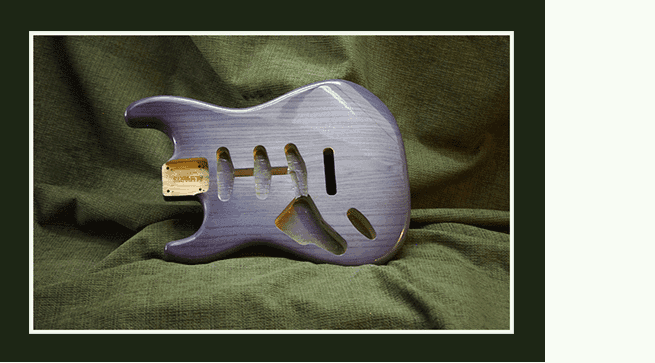 Custom finished guitar Strat body front