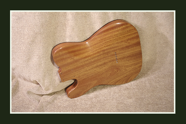 Spalted Telecaster Style Guitar Body - Back