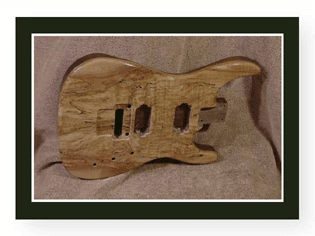 Soloist Spalted Guitar Body