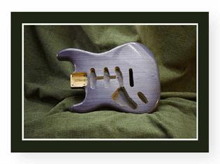 Blue Stratocaster Guitar Body