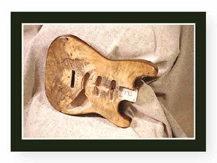 Golden Burl Stratocaster body