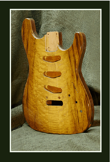 Custom finished Guitar Soloist body front