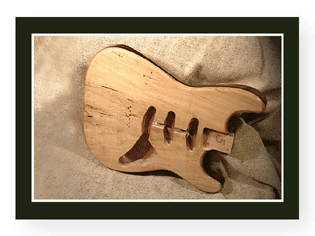 Spalted Stat Guitar Body