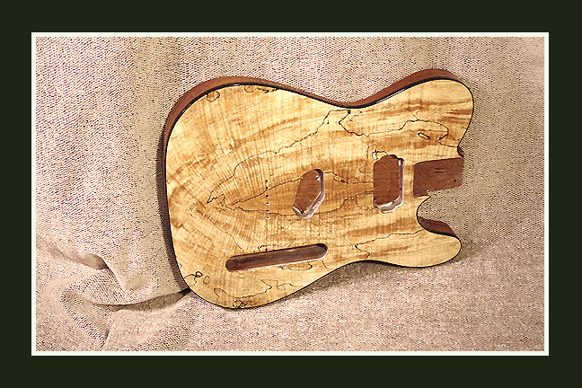 Telecaster Guitar Body - Spalted