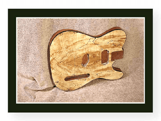Spalted Telecaster Body