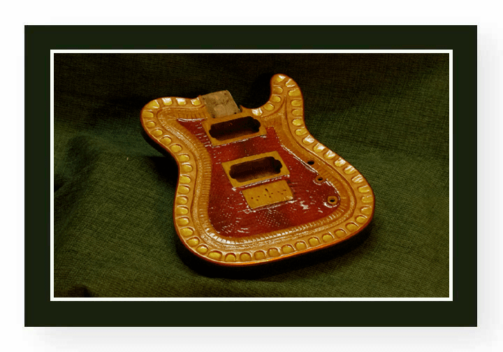 Carved Guitar Body